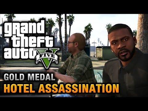 GTA 5 - Mission #33 - Hotel Assassination [100% Gold Medal Walkthrough]