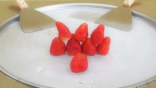 딸기 바사삭 철판아이스크림