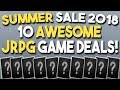 STEAM SUMMER SALE 2018 - 10 AWESOME JRPG Game DEALS!