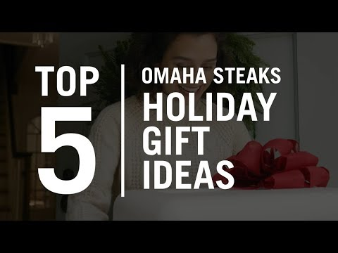 Omaha Steaks Holiday Gift Guide for Steak Lovers