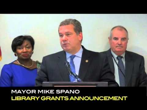 Mayor Spano announced Community Development Block Grant at Yonkers Riverfront Library