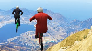 SUPER FAST DOWNHILL BIKE RACE! (GTA V Funny Moments)