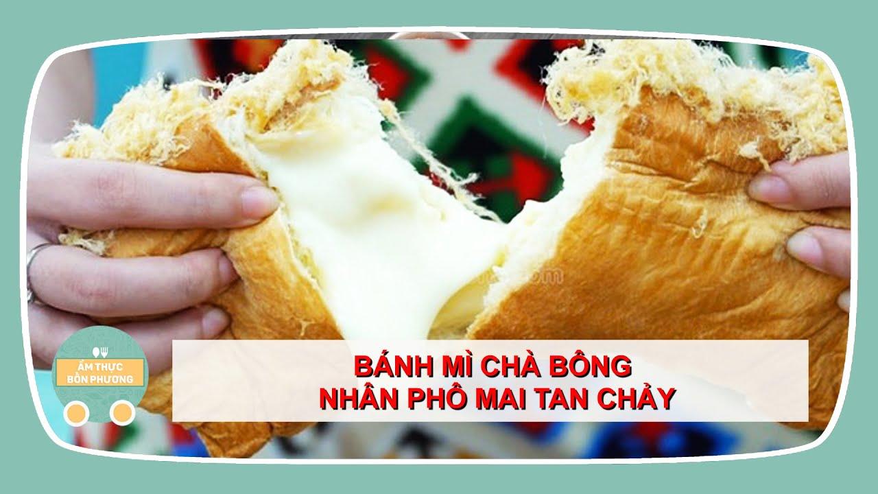 BÁNH MÌ CHÀ BÔNG NHÂN PHÔ MAI – Phô mai chảy tràn | Ẩm Thực Đường Phố – Vietnamese Street Food
