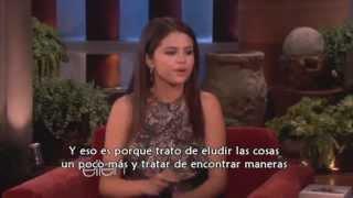 Selena Gomez sobre Taylor Swift en Ellen 16/04/13 subtitulada