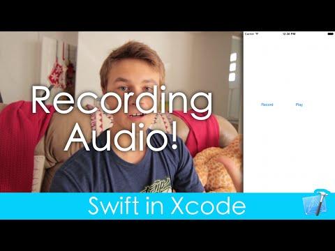 Recording Audio! (Swift in Xcode)