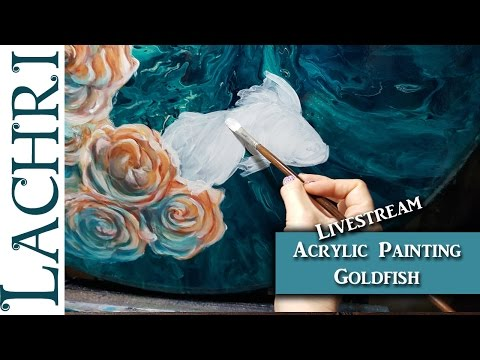 Livestream - Painting a goldfish in Acrylics