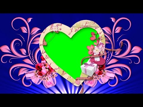 Flowers Wedding Video Backgrounds With Heart | Blue Love Background Full HD 1080p | DMX HD BG 114 thumbnail