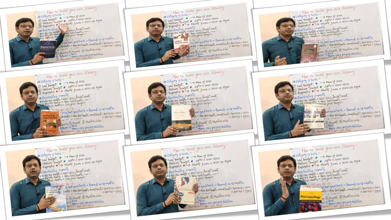 Download Pharmacology Books- Tips and Tricks (Part-05)=Build Your Own Library With Book Suggestion (HINDI)