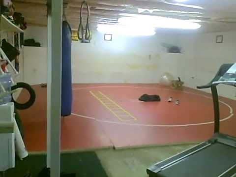 Mma garage gym and weight room youtube
