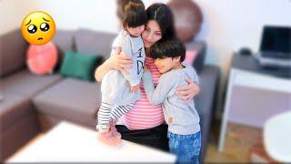 ودّعت اطفالها قبل دخولها المشفى 🥺 عصام ونور