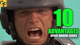 10 Advantages of STARSHIP TROOPERS Mobile Infantry | BEST SPACE MARINE SERIES