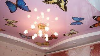 видео гипсокартон или натяжной потолок