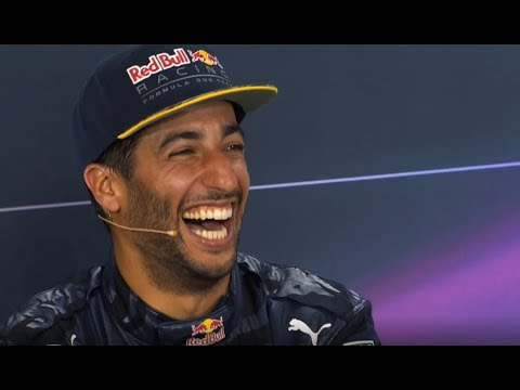 Daniel Ricciardo being the funniest F1 driver for 5 minutes straight.