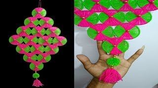 DIY wall hanging using woolen and old bangles | Home Decore idea | Best Out of Waste