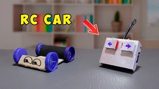 How To Make A Simple RC Car ( simple life hacks ! )