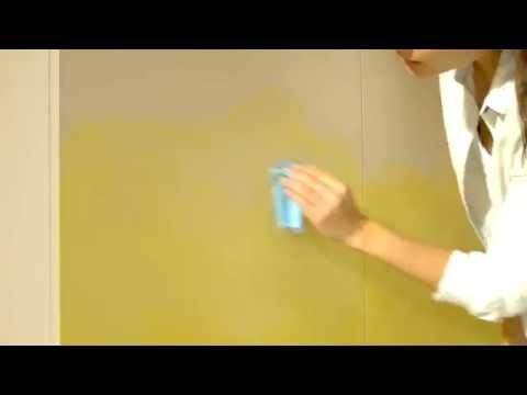 Эффект Омбре на стенах
