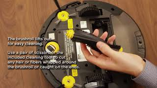 Shark ION ROBOT™ – How do I maintain the side brushes and brushroll?