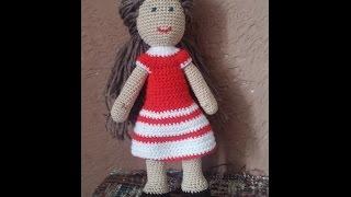 Кукла вязаная крючком. Голова - часть #4.