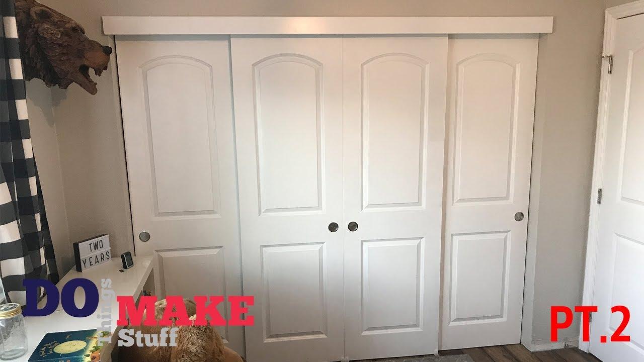 Diy Sliding Closet Doors Part 2 Easy Diy