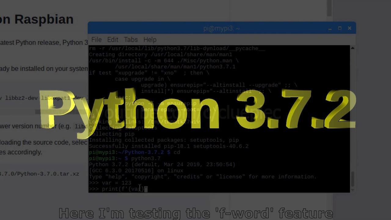 Setup Raspberry Pi For Stock Analysis  Step 1 - Install Python 3 7 2  2019