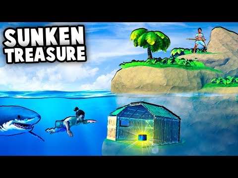 Mystery UNDERWATER Treasure House!?  RAFT Multiplayer Gameplay Part 1