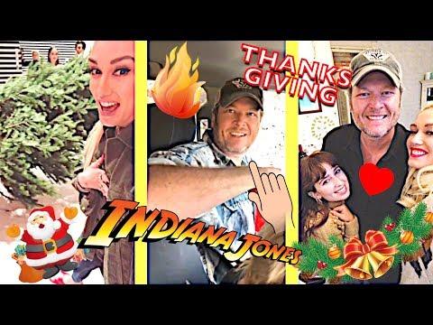 Gwen Stefani ✊(Thanksgiving With Blake Shelton, Oklahoma, Disneyland, The Voice...) - November 2018