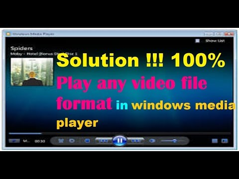 Play All Video Format With Window Media Player (100%work)