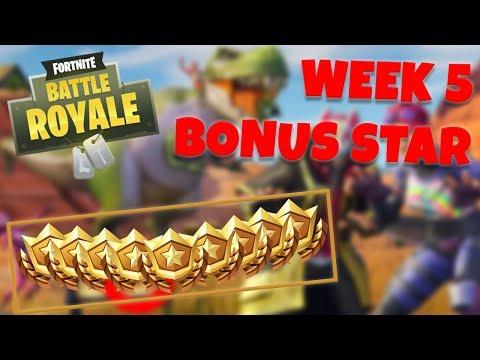 WEEK 5 BONUS STAR LOCATION - SEASON 5 (Fortnite Battle Royale)