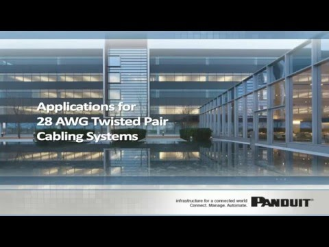 Applications for 28 AWG Twisted Pair Cabling Systems
