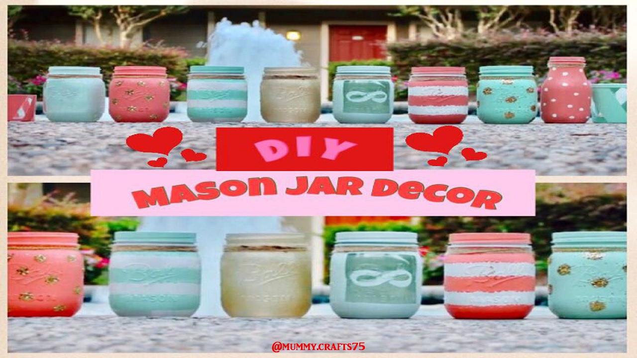 DIY Mason Jar Decor Super cute Mummy