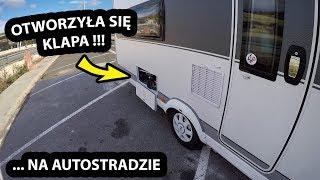 Otworzyła się KLAPA na AUTOSTRADZIE !!! - Z Przyczepy Kempingowej NIC Nie Wypadło !!! (Vlog #366)