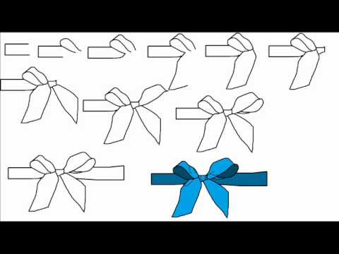 How To Draw A Ribbon Bow Step By Step Drawing Tutorial