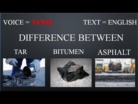 bitumen and tar