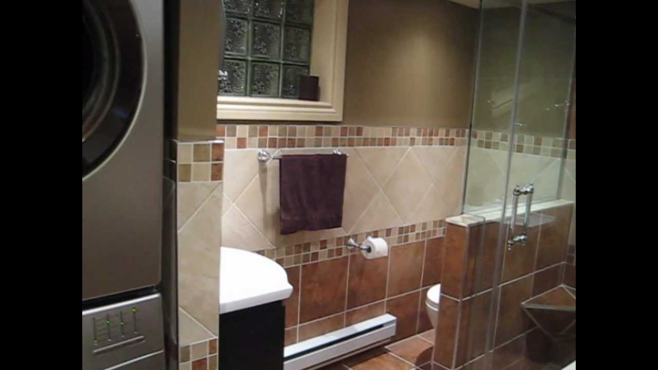 Basement laundry room bathroom youtube for How to add bathroom to basement