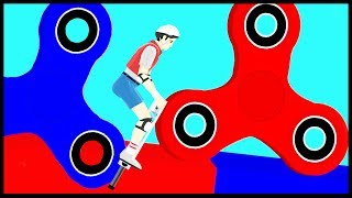 Fidget Spinner in Happy Wheels !