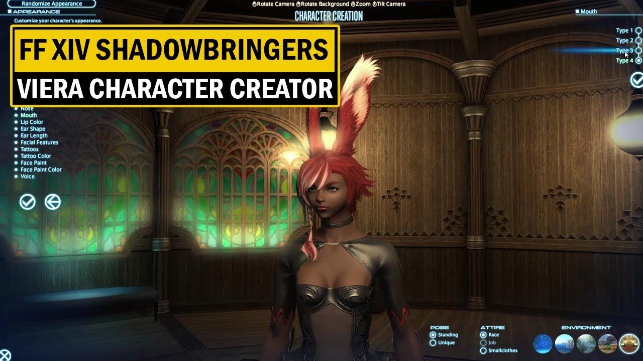 Final Fantasy XIV: Shadowbringer - Viera Character Creator