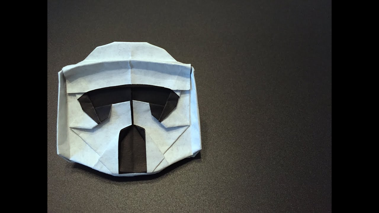 Easy Kirigami Clone Trooper instructions | Star wars origami ... | 720x1280