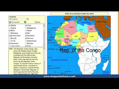Learn The Countries Of Africa Geography Tutorial Game Youtube
