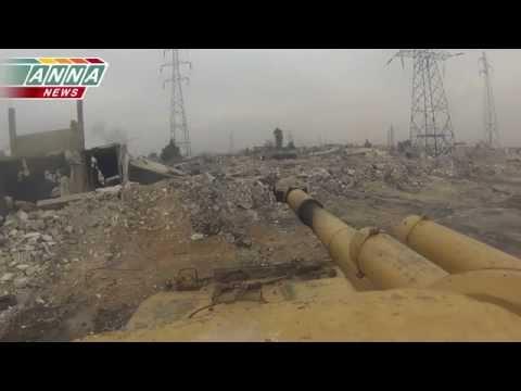 Сирия.Танки работают в