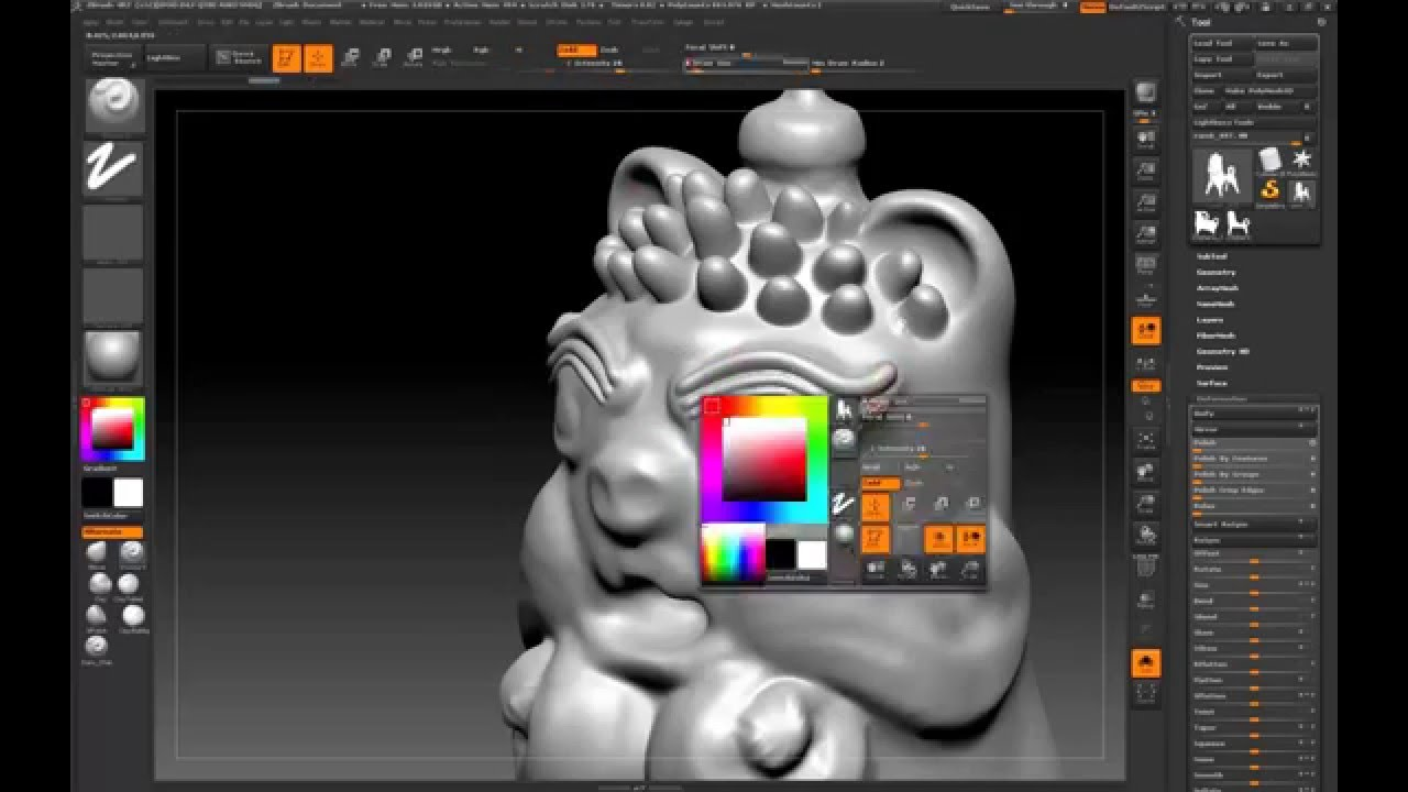 Creating ram figure in ZBrush | Portfolia 3D Modeling and