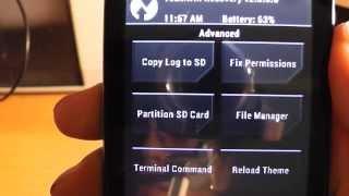 CWM Recovery in Xperia E Dual