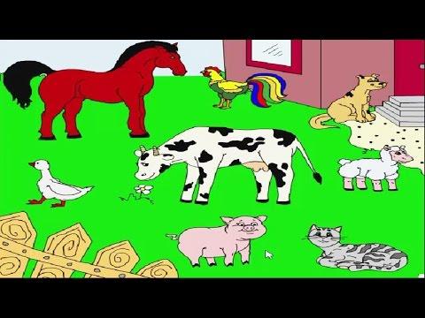 Животные на ферме-кто как делает.Развивающая игра для детей