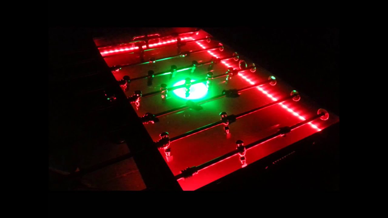 LED Foosball Table Rental Chicago IL Rent Light Up Glow - Foosball table light