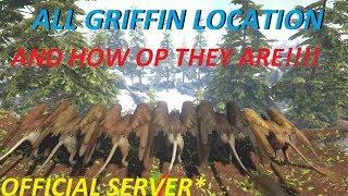 Ark Survival Evolved Ragnarok | Griffin Locations | All Griffin Spawns