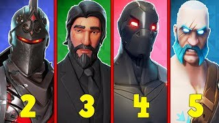 RANKING EVERY BATTLE PASS SKIN FROM WORST TO BEST! (Season 2-5!) | Fortnite Battle Royale!