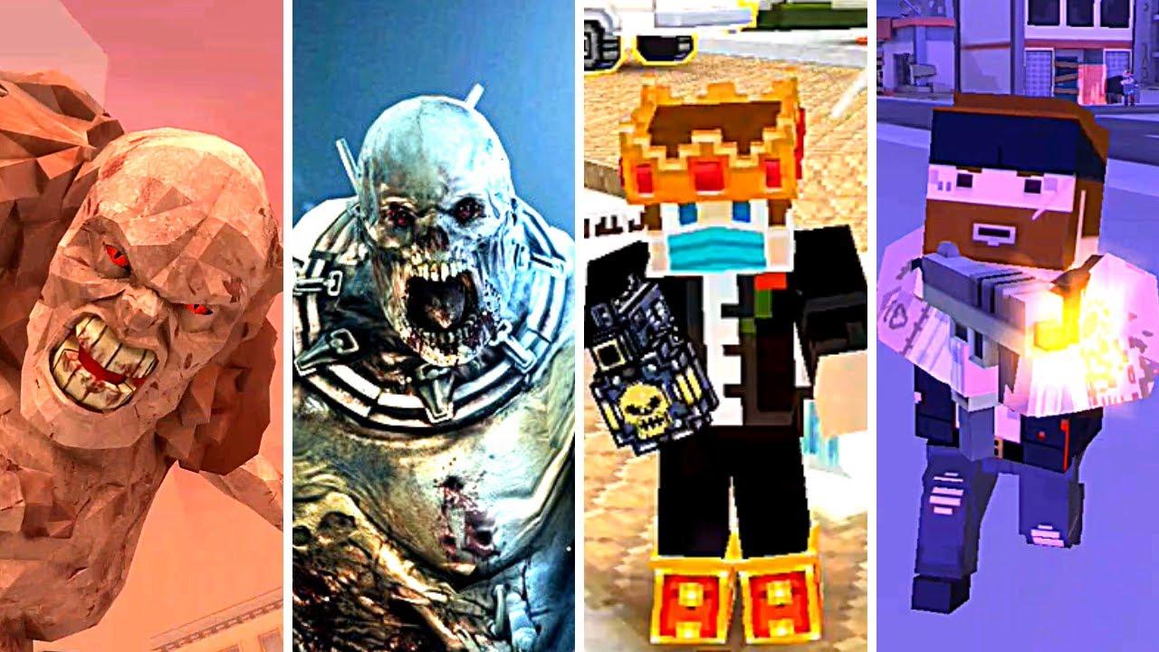 The Walking Zombie 2, Dead Trigger 2, Pixel Gun 3D & BLOCKAPOLYPSE - Zombie Game Android 2020
