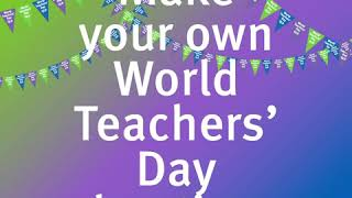 World Teachers' Day Queensland – get involved and make your own celebratory bunting