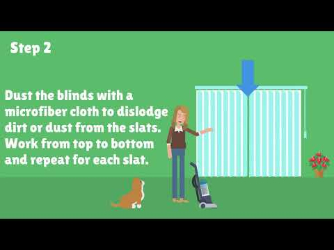 How You Should Clean Vertical Blinds Without Taking Them Down | Video FAQ