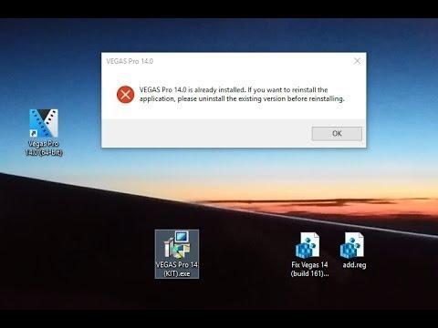 Vegas Pro 14 edit steam edition error 2 fix