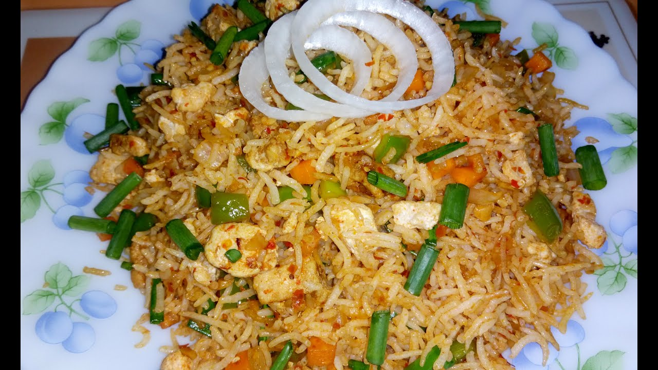 How To Prepare Schezwan Chicken Fried Rice By Soumali